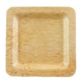 Prato Quadrado de Bambu 12x12x1cm (10 Uds)