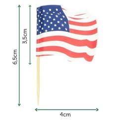 "Pick Bandeira ""USA"" 65mm (14.400 Uds)"