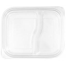 Tampa Plana de Plastico para Embalagem PET 18x15cm (75 Uds)