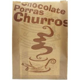 "Saco de Papel ""Chocolat"" Churros 30+9x42cm (250 Uds)"