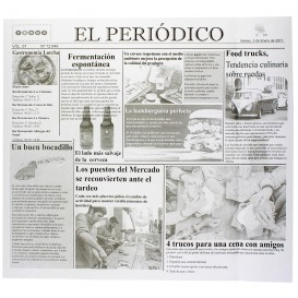 "Papel Anti-Gordura ""Periodico"" 28x31cm (1000 Unidades)"