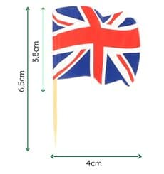 "Pick Bandeira ""UK"" 65mm (144 Uds)"