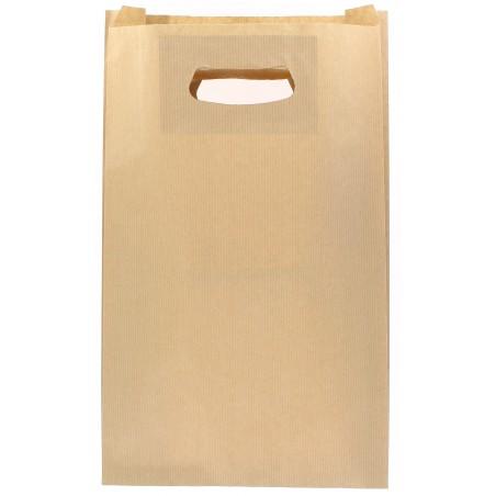 Saco Papel Kraft Asas Vazadas 70g 24+7x37cm (250 Uds)