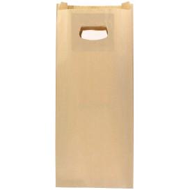 Saco Papel Kraft Asas Vazadas 60g 18+6x32cm (50 Uds)