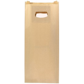 Saco Papel Kraft Asas Vazadas 60g 18+6x32cm (500 Uds)