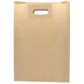 Saco Papel Kraft Asas Vazadas 70g 31+8x42cm (50 Uds)