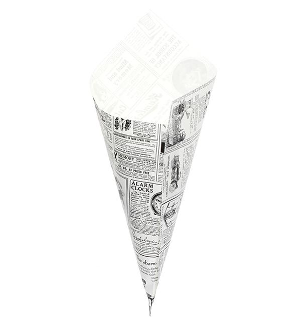 Cone de Papel Antigordura 340mm 400g (250 Uds)
