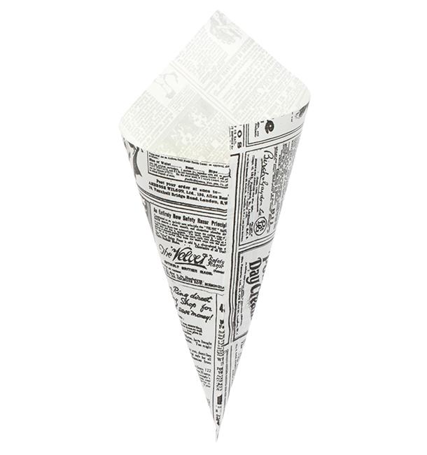 Cone de Papel Antigordura 240mm 100g (250 Uds)