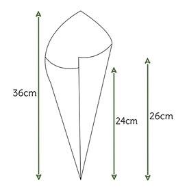 Cone de Papel Kraft 340mm 400g (200 Uds)