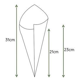 Cone de Papel Kraft 295mm 250g (2.000 Uds)