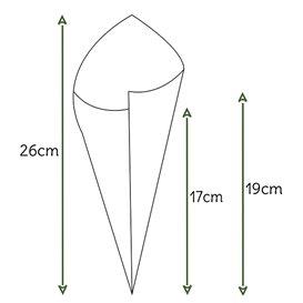 Cone de Papel Kraft 240mm 100g (200 Uds)