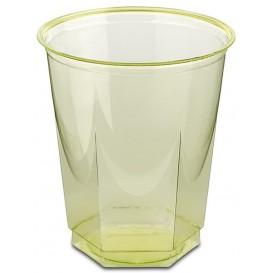 Copo Plastico Hexagonal PS Cristal Pistache 250ml (10 Uds)