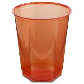 Copo Plastico Hexagonal PS Cristal Vermelho 250ml (250 Uds)
