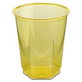 Copo Plastico Hexagonal PS Cristal Amarelo 250ml (250 Uds)