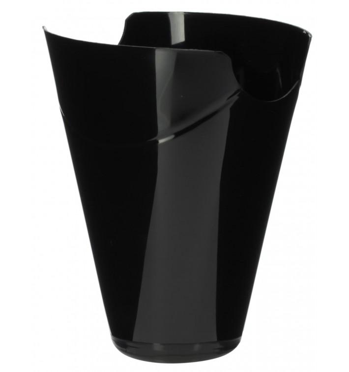 """Embalagem Degustação """"Click-Clack"""" PP Preto 180ml (200 Uds)"""