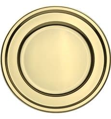 BaixoPrato Plastico Luxo Redondo Ouro 30 cm (5 Uds)