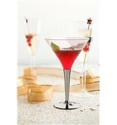 Copo Plastico Cocktail Pé Prata 100ml (6 Uds)