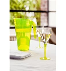 Copo Plastico Vinho Pé Verde 130 ml (6 Unidades)