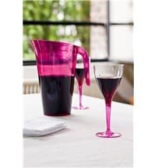 Copo Plastico Vinho Pé Framboesa 130 ml (60 Unidades)