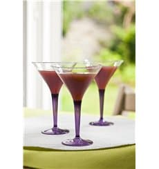 Copo Plastico Cocktail Pé Berinjela 100ml (6 Uds)