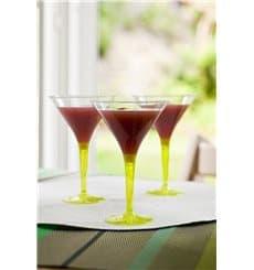 Copo Plastico Cocktail Pé Verde 100ml (48 Uds)