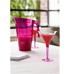 Copo Plastico Cocktail Pé Framboesa 100ml (6 Uds)