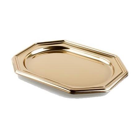 Bandeja Plastico Luxo Octog. Ouro 46x30 cm (50 Uds)