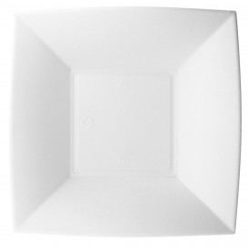 Prato Fundo Cana-de-açúcar Branco Nice 18x18cm (50 Uds)