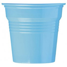 Copo de Plastico PS Azul Claro 80 ml Ø5,7cm (50 Uds)