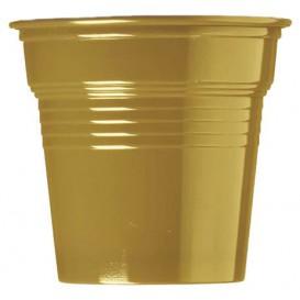 Copo de Plastico PS Ouro 80 ml Ø5,7cm (50 Uds)
