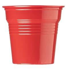 Copo de Plastico PS Vermelho 80 ml Ø5,7cm (50 Uds)