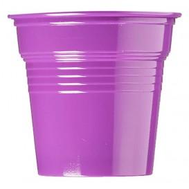 Copo de Plastico PS Violeta 80 ml Ø5,7cm (50 Uds)