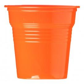 Copo de Plastico PS Laranja 80 ml Ø5,7cm (50 Uds)
