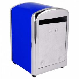 Dispensador Guardanapos Inox. Azul Miniservis (12 Uds)