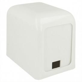 Dispensador Guardanapos Plastico Branco Miniservis 17x17 (12 Uds)