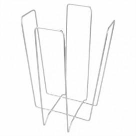 Porta-Guardanapos Cocktail de Arame 11x11x18cm (1 Ud)