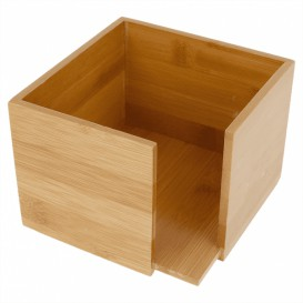 Porta-Guardanapos Cocktail de Bambu 13,5x13,5x10cm (12 Uds)