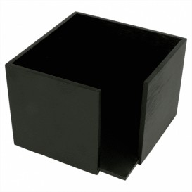 Porta-Guardanapos Cocktail Preto 13,5x13,5x10cm (12 Uds)