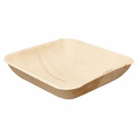 Tigela de folha de palmeira 20x20x4cm (25 Uds)