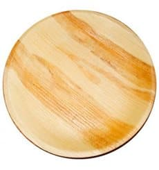 Prato de folha de palmeira Ø12,5x2cm (25 Uds)