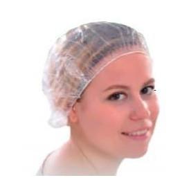 Touca de Polietileno para Banho Dobrado Acordeão (100 Uds)