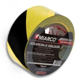 Fita Adesiva Sinalização 5cmX33m Amarelo/Preto (36 Uds)