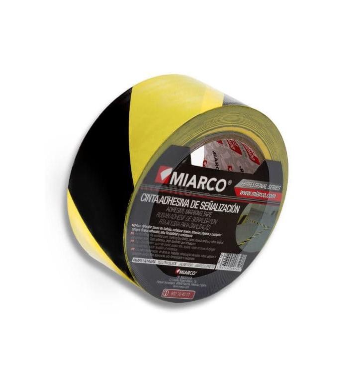 Fita Adesiva Sinalização 5cmX33m Amarelo/Preto (12 Uds)