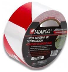 Fita Adesiva Sinalização 5cmX33m Branco/Vermelho (12 Uds)