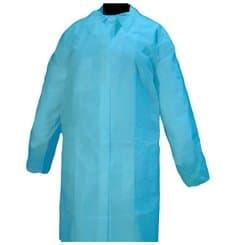 Bata Cadete TST PP 35 gr. Velcro e Sem Bolsos Azul (1 Ud)