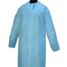 Bata Cadete TST PP 35 gr. Velcro e Sem Bolsos Azul (100 Uds)
