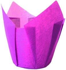 Cápsula Muffin Tulipa Ø50x42/72 mm Violeta (2160 Uds)