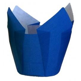 Cápsula Muffin Tulipa Ø50x50/80 mm Azul (2000 Uds)