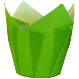 Cápsula Muffin Tulipa Ø50x50/80 mm Verde (2000 Uds)