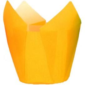 Cápsula Muffin Tulipa Ø50x50/80 mm Amarelo (125 Uds)